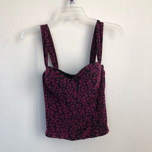 NBD Cheetah Purple / Black Bra Crop Top